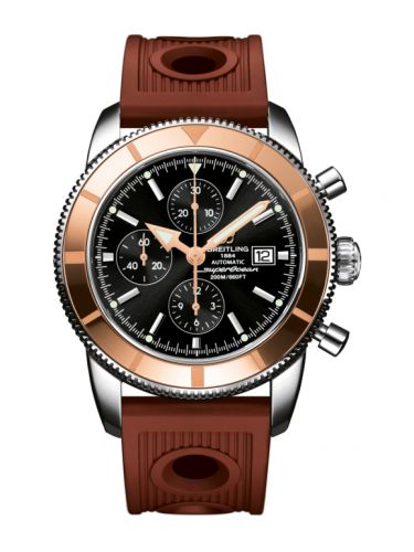 Breitling U1332012.B908.206S : Superocean Heritage 46 Chronograph Stainless Steel / Red Gold  / Black /  Rubber