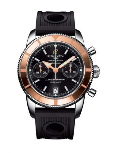 Breitling U2337012.BB81.200S : Superocean Heritage 44 Chronograph Stainless Steel / Red Gold / Black / Rubber