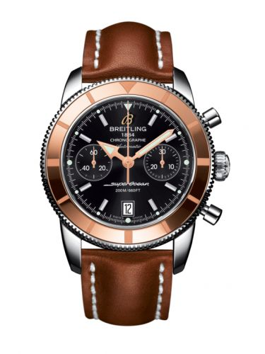 Breitling U2337012.BB81.433X : Superocean Heritage 44 Chronograph Stainless Steel / Red Gold / Black / Calf