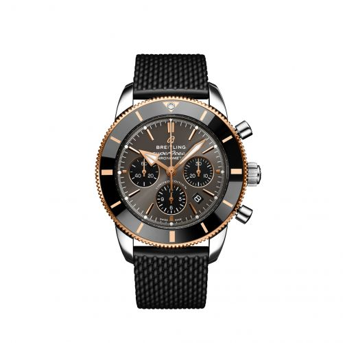 Breitling UB01621A1M1S1 : Superocean Heritage II B01 Chronograph 44 Stainless Steel / Red Gold / Grey