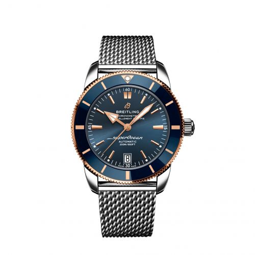Breitling UB2010161C1A1 : Superocean Heritage II B20 Automatic 42 Stainless Steel / Red Gold / Blue / Bracelet