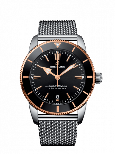 Breitling UB2030121B1A1 : Superocean Heritage II B20 Automatic 44 Stainless Steel / Red Gold / Black / Milanese