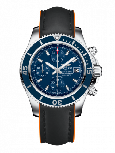 Breitling A13311D1/C971/244X/A18BA.1 : Superocean Chronograph 42 Stainless Steel / Blue / Rubber / Pin