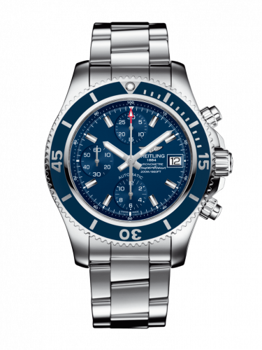 Breitling A13311D11C1A1 : Superocean Chronograph 42 Stainless Steel / Blue / Bracelet