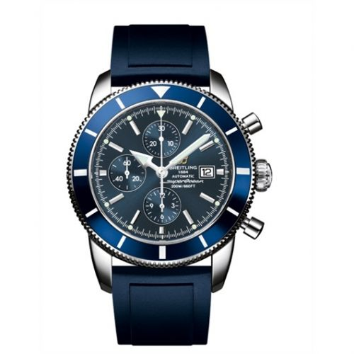 Breitling A1332016.C758.139S : Superocean Heritage 46 Chronograph Stainless Steel / Blue / Blue / Rubber