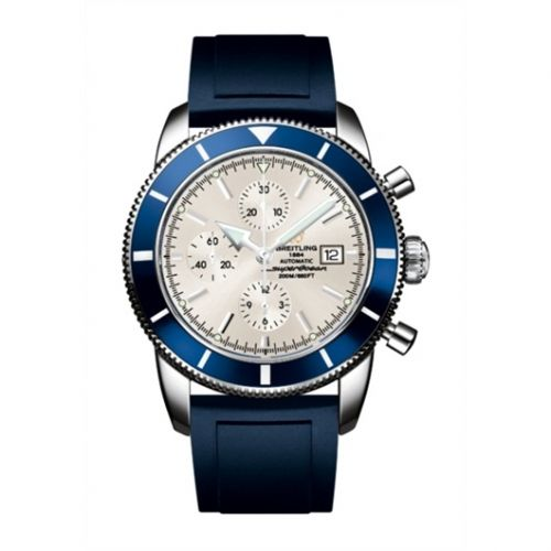 Breitling A1332016.G698.139S : Superocean Heritage 46 Chronograph Stainless Steel / Blue / Stratus Silver / Rubber