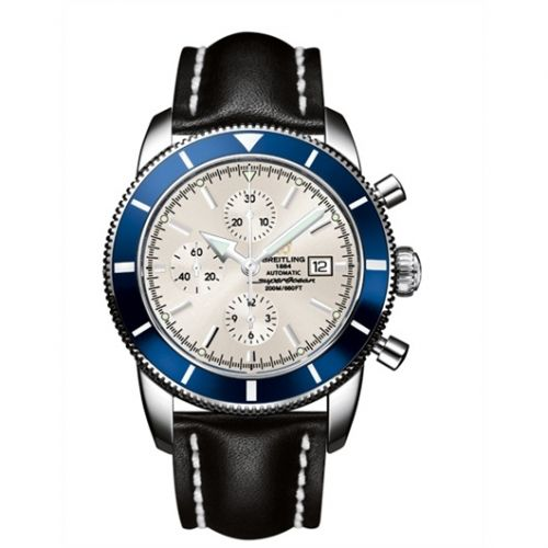 Breitling A1332016.G698.441X : Superocean Heritage 46 Chronograph Stainless Steel / Blue / Stratus Silver / Calf
