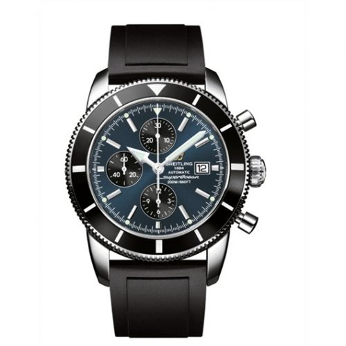 Breitling A1332024.C817.135S : Superocean Heritage 46 Chronograph Stainless Steel / Black / Gun Blue / Rubber