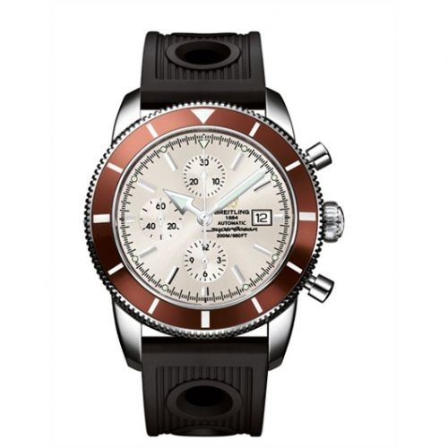 Breitling A1332033.G698.201S : Superocean Heritage 46 Chronograph Stainless Steel / Bronze / Stratus Silver / Rubber