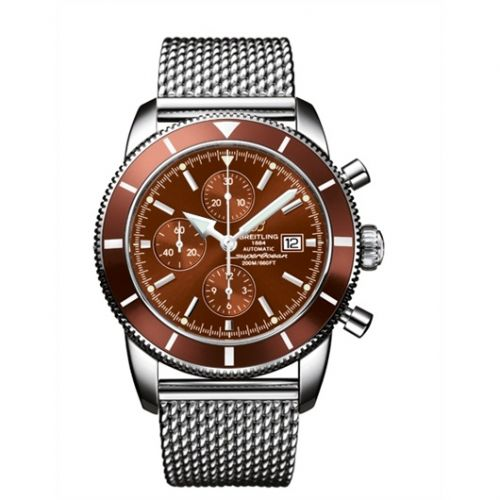 Breitling A1332033.Q553.144A : Superocean Heritage 46 Chronograph Stainless Steel / Bronze / Bronze / Milanese