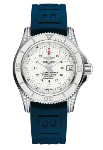 Breitling A1731267.A775.413X : Superocean II 36 Diamond / White / Rubber