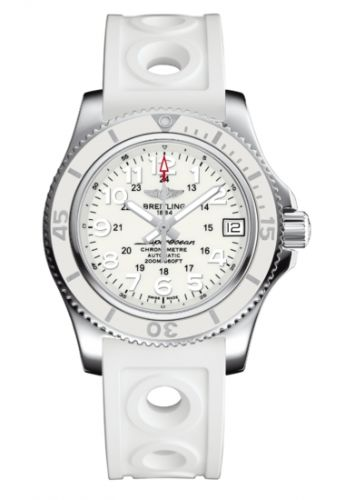 Breitling A17312D21A1S1 : Superocean II 36 White / Rubber