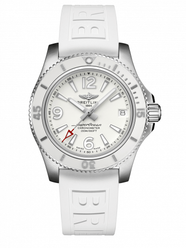 Breitling A17316D21A1S1 : Superocean 36 Stainless Steel / White / Rubber / Pin