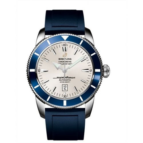 Breitling A1732016.G642.139S : Superocean Heritage 46 Stainless Steel / Blue / Stratus Silver / Rubber