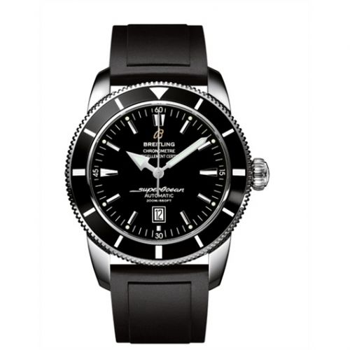 Breitling A1732024.B868.135S : Superocean Heritage 46 Stainless Steel / Black / Black / Rubber