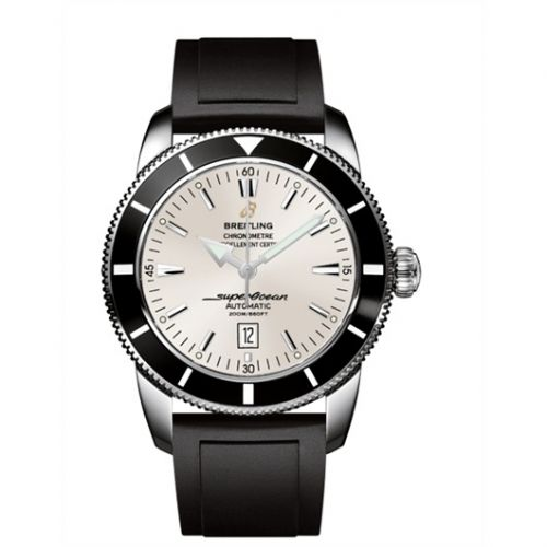 Breitling A1732024.G642.135S : Superocean Heritage 46 Stainless Steel / Black / Stratus Silver / Rubber