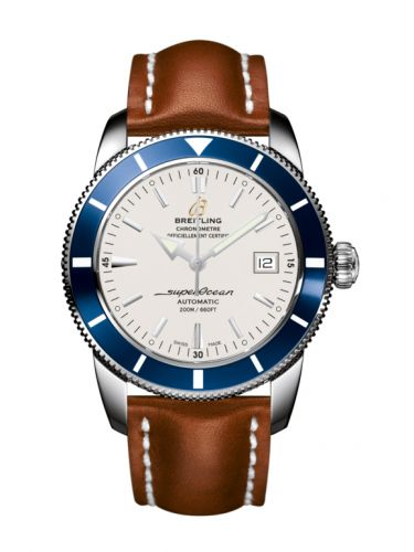 Breitling A1732116.G717.433X : Superocean Heritage 42 Stainless Steel / Blue / Stratus Silver / Calf