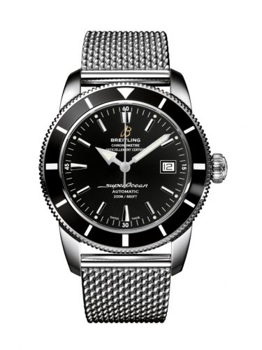 Breitling A1732124.BA61.154A : Superocean Heritage 42 Stainless Steel / Black / Volcano Black / Milanese