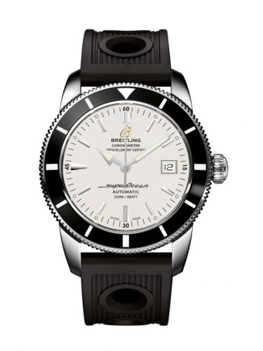 Breitling A1732124.G717.200S : Superocean Heritage 42 Stainless Steel / Black / Stratus Silver / Rubber