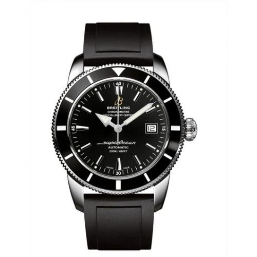 Breitling A1732124.BA61.131S : Superocean Heritage 42 Stainless Steel / Black / Volcano Black / Rubber