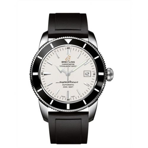 Breitling A1732124.G717.131S : Superocean Heritage 42 Stainless Steel / Black / Stratus Silver / Rubber