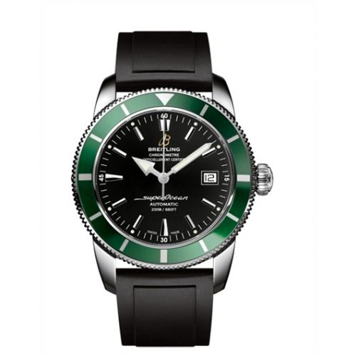 Breitling A1732136.BA61.131S : Superocean Heritage 42 Stainless Steel / Green / Volcano Black / Rubber