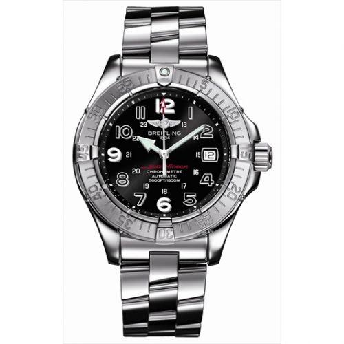 Breitling A1736006.B909 : Superocean Arrow Hand / Black / Bracelet