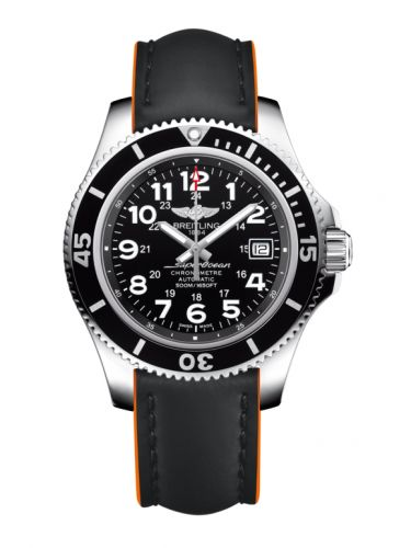 Breitling A17365C9.BD67.244X : Superocean II 42 Stainless Steel / Volcano Black / Rubber
