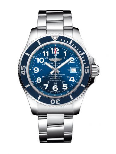 Breitling A17365D11C1A1 : Superocean II 42 Stainless Steel / Blue / Mariner Blue / Bracelet