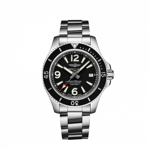 Breitling A17366021B1A1 : Superocean 42 Stainless Steel / Black / Bracelet