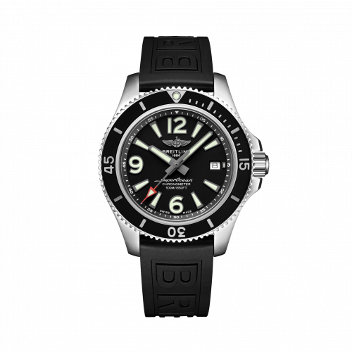 Breitling A17366021B1S1 : Superocean 42 Stainless Steel / Black / Rubber / Pin