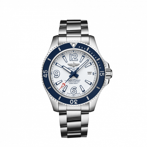 Breitling A17366D81A1A1 : Superocean 42 Stainless Steel / White / Bracelet