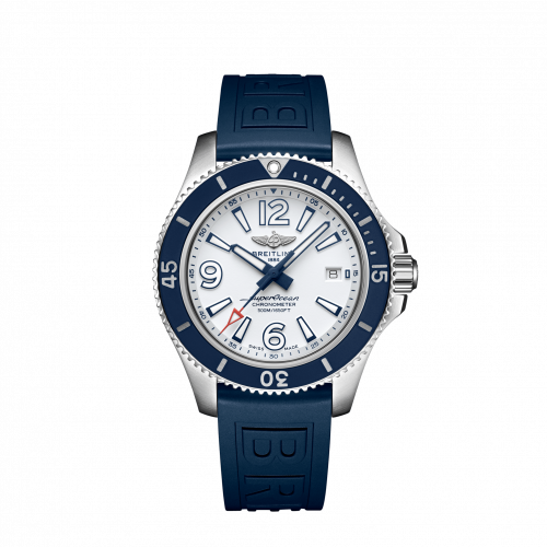 Breitling A17366D81A1S1 : Superocean 42 Stainless Steel / White / Rubber / Pin