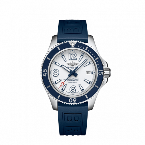 Breitling A17366D81A1S2 : Superocean 42 Stainless Steel / White / Rubber / Folding