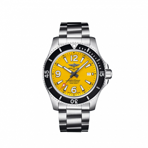 Breitling A17367021I1A1 : Superocean 44 Stainless Steel / Yellow / Bracelet