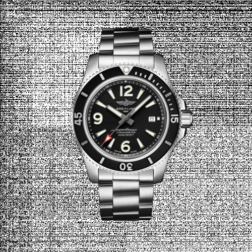 Breitling A17367D71B1A1 : Superocean 44 Stainless Steel / Black / Bracelet