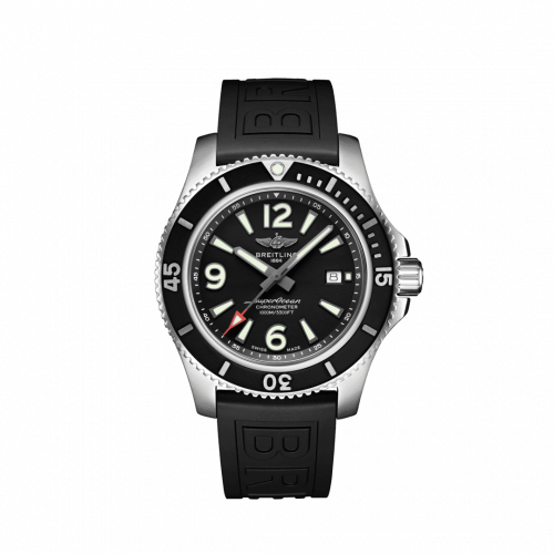 Breitling A17367D71B1S2 : Superocean 44 Stainless Steel / Black / Rubber / Folding