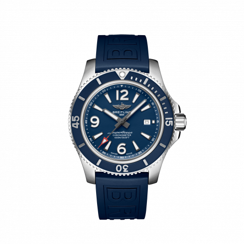 Breitling A17367D81C1S1 : Superocean 44 Stainless Steel / Blue / Rubber / Pin