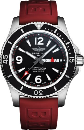 Breitling A17371A11B1S1 : Superocean 44 Stainless Steel / Black / Rubber / Pin / IRONMAN