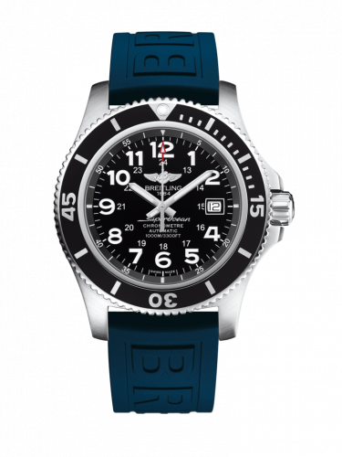 Breitling A17392D7/BD68/158S/A20SS.1 : Superocean II 44 Stainless Steel / Black / Volcano Black / Rubber / Pin