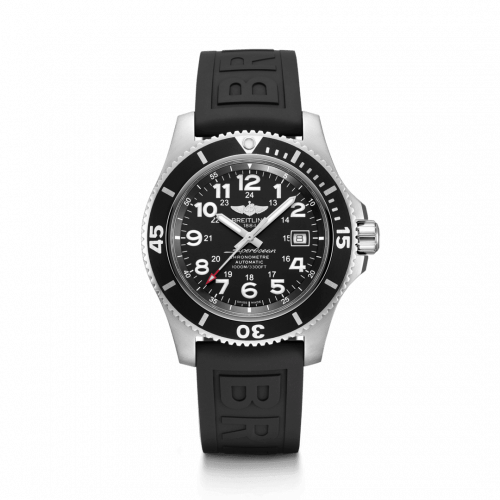 Breitling A17392D71B1S1 : Superocean II 44 Stainless Steel / Black / Volcano Black / Rubber / Pin