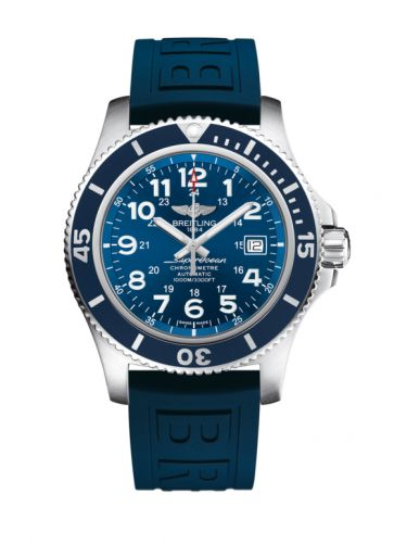 Breitling A17392D8.C910.158S : Superocean II 44 Stainless Steel / Blue / Mariner Blue / Rubber