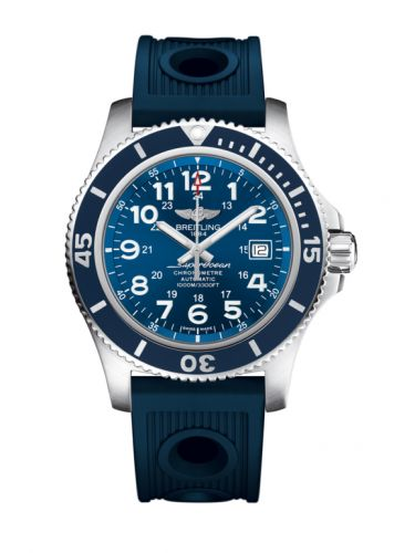 Breitling A17392D8.C910.211S : Superocean II 44 Stainless Steel / Blue / Mariner Blue / Rubber