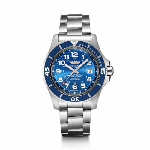 Breitling A17392D81C1A1 : Superocean II 44 Stainless Steel / Blue / Mariner Blue / Bracelet