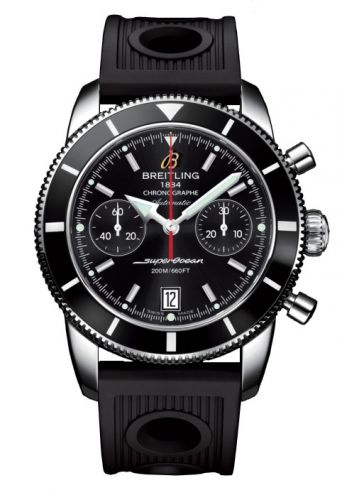 Breitling A2337024.BB81.200S : Superocean Heritage 44 Chronograph Stainless Steel / Black / Black / Rubber
