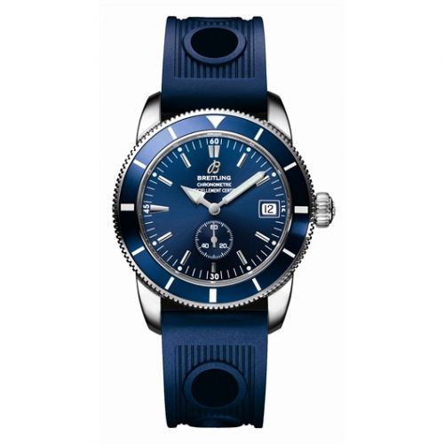 Breitling A3732024.C735 : Superocean Heritage 38 Stainless Steel / Blue / Rubber