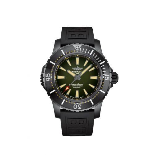 Breitling V17369241L1S1 : Superocean II 48 Titanium / Green / Rubber / Pin