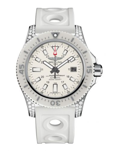 Breitling Y1739367.A807.297S : Superocean 44 Special Stainless Steel / Diamondworks / Hurricane White / Rubber