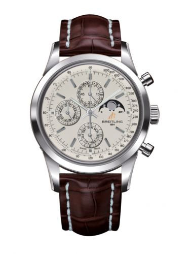 Breitling A1931012/G750/739P/A20BA.1 : Transocean Chronograph 1461 Stainless Steel / Silver / Croco / Pin