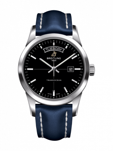 Breitling A4531012/BB69/105X/A20BA.1 : Transocean Day & Date Stainless Steel / Black / Calf / Pin